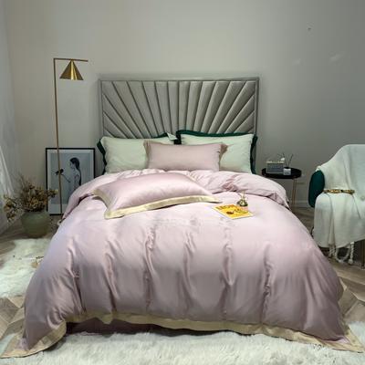 2019新款60支兰精天丝刺绣四件套-套图一 1.8m(6英尺)床 子粉