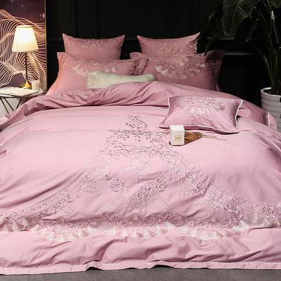 【Dana戴纳】60S大版特种毛巾绣刺绣卡通小清新淑女公主风 欧式美式全棉四件套多件套 1.5m(5英尺)床 戴纳--四件套