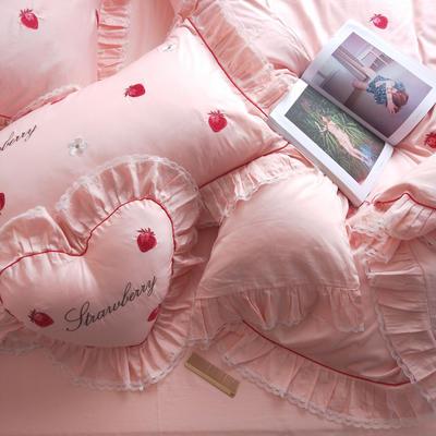 提取码:c5wp【欧若拉】60S大版特种毛巾绣刺绣卡通小清新淑女公主风 欧式美式全棉四件套多件套 1.5m(5英尺)床 欧若拉-六件套