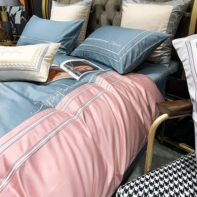 提取码:58ev【肖邦--共4色系】100支全棉轻奢刺绣拼色撞色高端北欧风简约时尚现代风四件套多件套 1.5m(5英尺)床 肖邦-4色-六件套