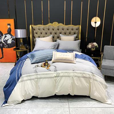 提取码:58ev【肖邦--共4色系】100支全棉轻奢刺绣拼色撞色高端北欧风简约时尚现代风四件套多件套 1.5m(5英尺)床 肖邦-4色-四件套