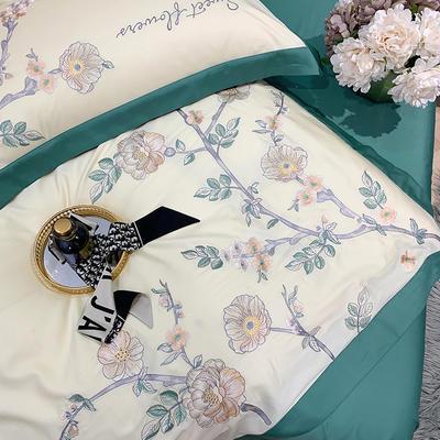 提取码:bn3u【风信子-奶白】全棉60S大版婚庆刺绣淑女公主风 美式花卉 欧式美式全棉四件套多件套 1.8m(6英尺)床 风信子-奶白-六件套