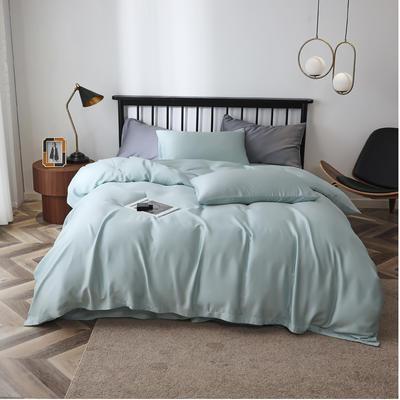 2020新款60S天丝纯色四件套 2.0m床单款四件套 天浅蓝