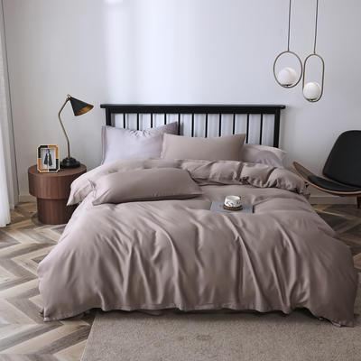 2020新款60S天丝纯色四件套 2.0m床单款四件套 石竹灰