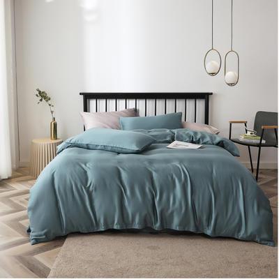 2020新款60S天丝纯色四件套 2.0m床单款四件套 蟹壳青