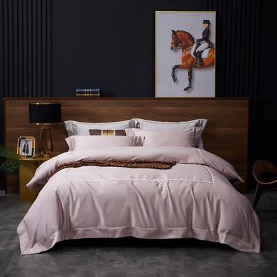 2020新款100S全棉纯色刺绣四件套 2.0m床单款四件套 艾德蒙