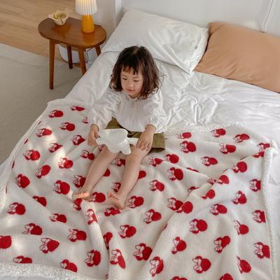 2020新款双面羊羔绒暖肤毯毛毯盖毯 150*200cm 白色米奇