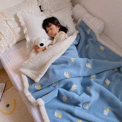 2020新款双面羊羔绒暖肤毯毛毯盖毯 150*200cm 北极熊