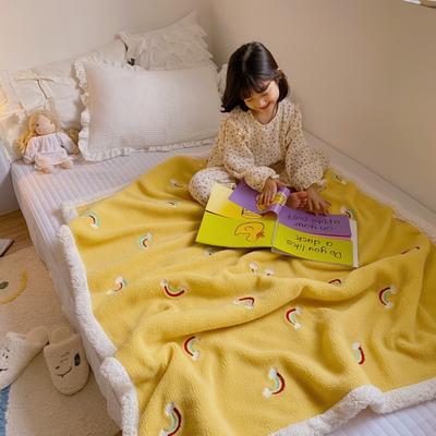 2020新款双面羊羔绒暖肤毯毛毯盖毯 150*200cm 彩虹