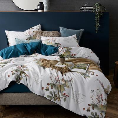 朵希曼新款60S數碼印花長絨棉系列 1.8m(6英尺)床 夢溪-藍