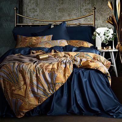 朵希曼新款60S數碼印花長絨棉系列 1.8m(6英尺)床 歐錦