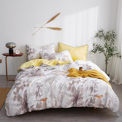 朵希曼新款60S數碼印花長絨棉系列 1.8m(6英尺)床 輕啼