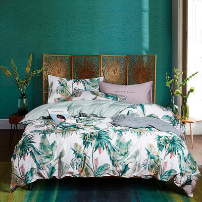 朵希曼新款60S數碼印花長絨棉系列 1.8m(6英尺)床 顏庭之夜