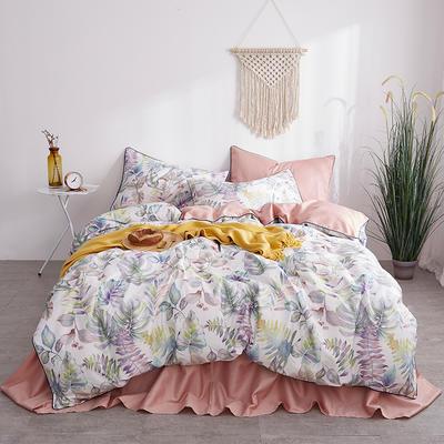 朵希曼新款60S數碼印花長絨棉系列 1.8m(6英尺)床 月臺花榭