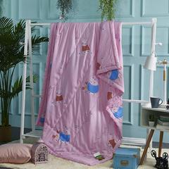 莫代尔天丝夏被卡通夏被 小猪佩奇 150x200cm 粉色