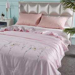 60全棉长绒棉绣花夏被贴布绣夏被 小天使 200X230cm 粉色