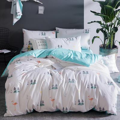 全棉活性斜纹四件套 1.5m(5英尺)床 梦幻岛
