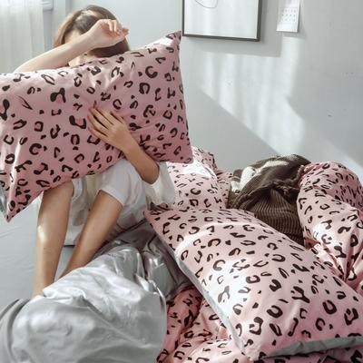 2019新款全棉简约系列四件套 1.2m(4英尺)床 豹纹
