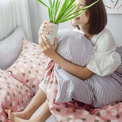 2019新款全棉小清新系列四件套 1.2m(4英尺)床 菠萝派对
