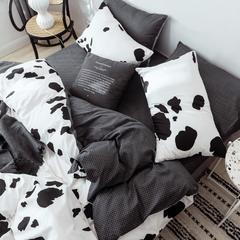 2019新款40s133*72全棉小清新系列-单枕套 48cmX74cm 奶牛