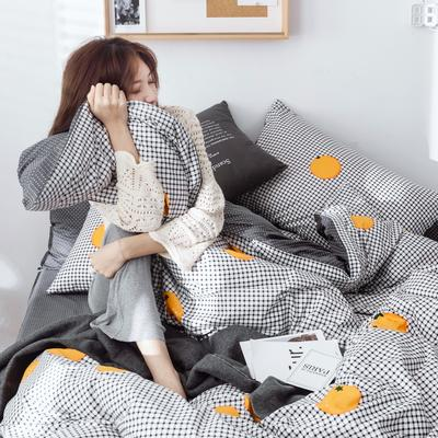 2019新款40s133*72全棉小清新系列-单被套 155X210cm 橙子