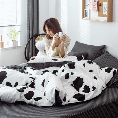 2019新款40s133*72全棉小清新系列-单被套 155X210cm 奶牛