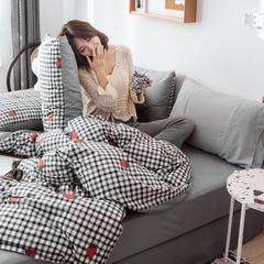 2019新款40s133*72全棉小清新系列四件套 1.2m(4英尺)床 草莓诱惑