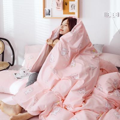 2019新款40s133*72全棉小清新系列四件套 1.2m(4英尺)床 小粉猪