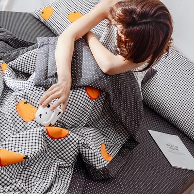 2019新款全棉斜纹夏被四件套 150x200cm 橙子控