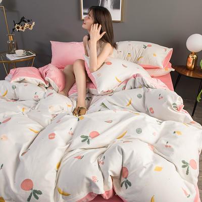 2019新款全棉加水晶绒系列单被套 155X210cm 萝卜爱