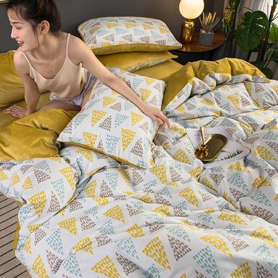 2019新款全棉加水晶绒系列四件套 1.2m床单款三件套 恋曲