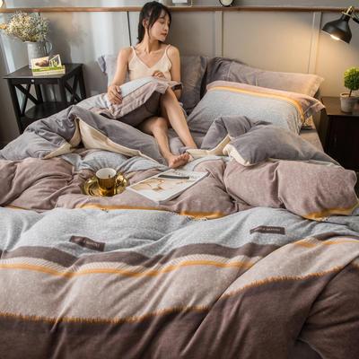 2019新款加厚保暖双面羊棉绒四件套 1.8m床单款 奥利维拉