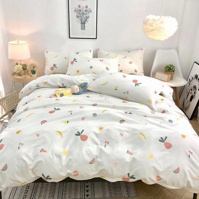 2020新款全棉斜纹四件套 1.2m床单款三件套 萝卜爱