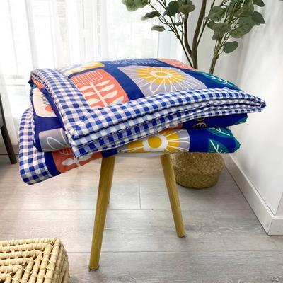 2020新款全棉夏被四件套夏被单品系列 床单180*230cm 加州花园 蓝