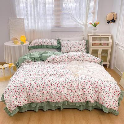2021新款全棉韩版花卉床裙款四件套 1.5m床裙款四件套 法尔曼