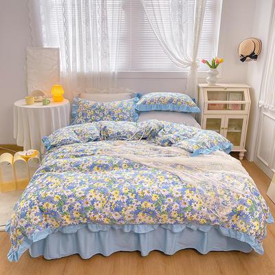 2021新款全棉韩版花卉床裙款四件套 1.5m床裙款四件套 凡尔赛