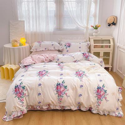 2021新款全棉韩版花卉床裙款四件套 1.5m床裙款四件套 花满庭
