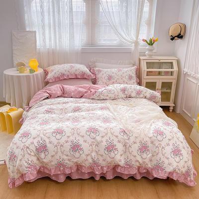 2021新款全棉韩版花卉床裙款四件套 1.5m床裙款四件套 花瑶