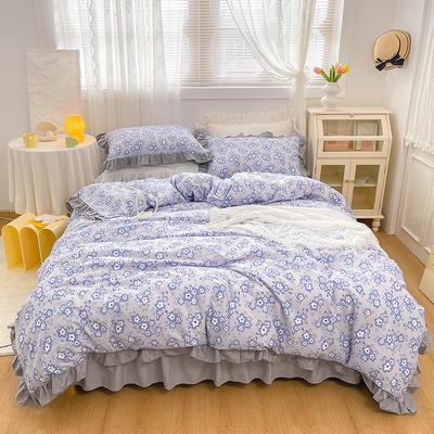 2021新款全棉韩版花卉床裙款四件套 1.5m床裙款四件套 觅觅花园