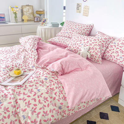 2021新款40支13372全棉单被套  单品床单   单品枕套—ins网红小清新系列 155*210cm单被套 菲菲兔粉