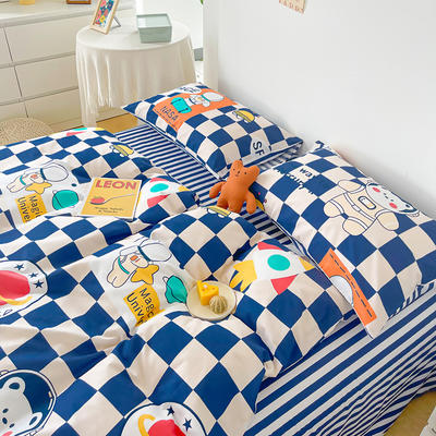 2021新款40支13372全棉单被套  单品床单   单品枕套—ins网红小清新系列 155*210cm单被套 太空梦想