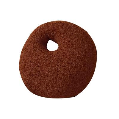 2021新款泰迪绒油画板毛绒抱枕球 球球直径25cm 抱抱-焦糖棕36*45cm
