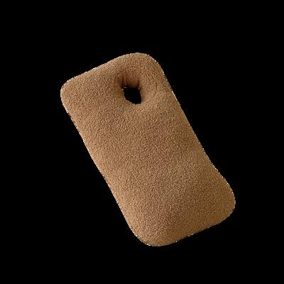 2021新款泰迪绒油画板毛绒抱枕球 球球直径25cm 抱抱-奶茶咖30*55cm