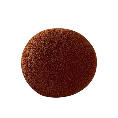 2021新款泰迪绒油画板毛绒抱枕球 球球直径35cm 球球-焦糖棕