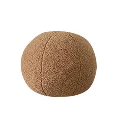 2021新款泰迪绒油画板毛绒抱枕球 球球直径35cm 球球-奶茶咖