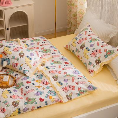 2021新款13372(40支)全棉花纱系列 公主系四件套 1.5m床单款四件套 阿拉蕾童话