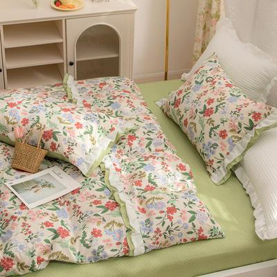 2021新款13372(40支)全棉花纱系列 公主系四件套 1.5m床单款四件套 爱丽丝花园