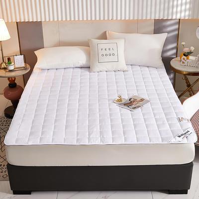 2021新款亲肤全棉抗菌床垫 软床垫 学生宿舍防滑床垫 夹棉床笠 0.9*2.0m 高级白