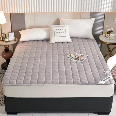 2021新款亲肤全棉抗菌床垫 软床垫 学生宿舍防滑床垫 夹棉床笠 0.9*2.0m 高级灰