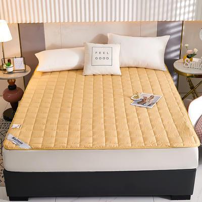 2021新款亲肤全棉抗菌床垫 软床垫 学生宿舍防滑床垫 夹棉床笠 0.9*2.0m 时尚驼